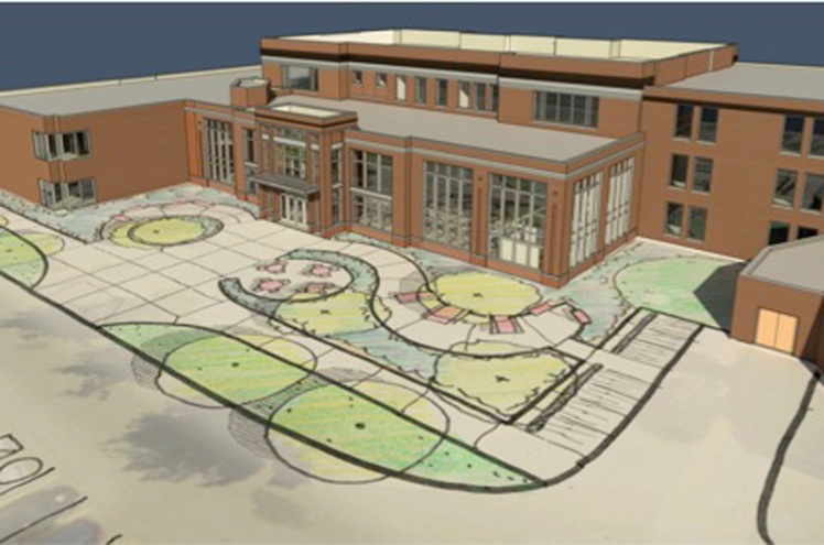 Rendering of the $10.8-million Grawn Hall renovation. (Courtesy: Central Michigan University)