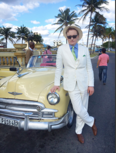 Conan O'Brien in Cuba. (Courtesy: TeamCoco.com)