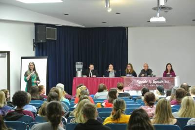 Panelists speak on sexual assault at a Speak Up, Speak Out event on TK. (Photo credit: Speak Up, Speak Out.)
