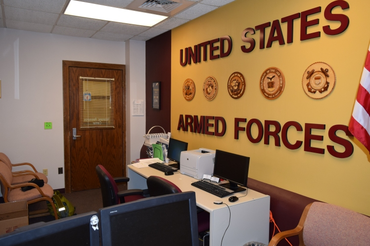 Photo of Veteran Resource Center at Central Michigan University. Photo by Nick Green.