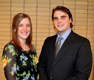 Ian Elliot, candidate is on the right. Photo courtesy of the CMU Student Government Association.